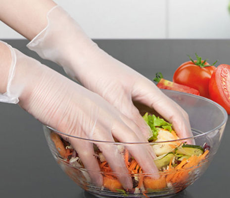 China Professiona Latex Free Disposable Gloves Plastic Gloves For Serving Food supplier