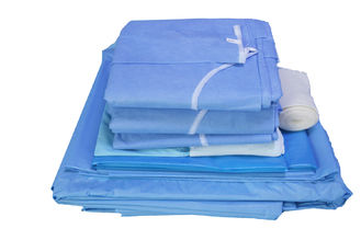 China Nonwoven Sterile  Disposable Surgical Packs With PE Laminated Customized Sizes supplier