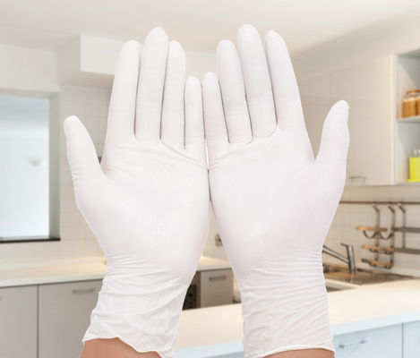 China Durable Small Powder Free Latex Gloves / Latex Medical Exam Gloves  For Extended Use supplier